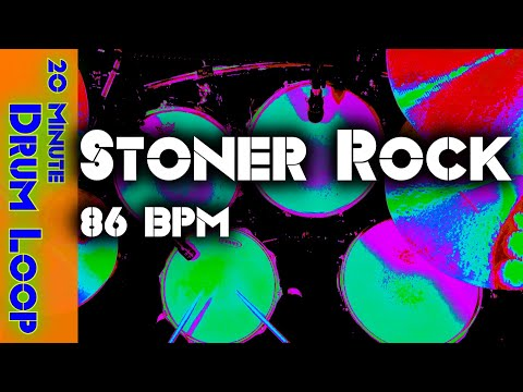 20 Minute Drum Loop - Stoner Rock 86 BPM -  Version 1 - Loose Hi Hat with Fill