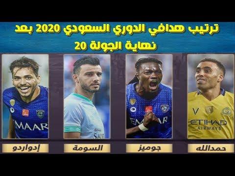 ترتيب هدافي الدوري السعودي 2020 بعد نهاية الجولة 20 Youtube