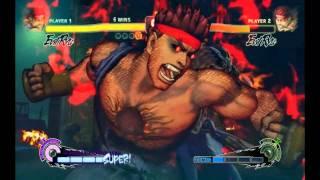 超级街头霸王4街机版-Evil Ryu(滅.波動拳★)(滅殺豪昇龍★)K.O.時間(高清HD)