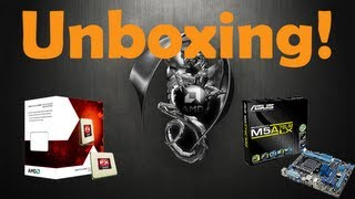 Unboxing AMD FX 4170 Quad-Core 4.2 Ghz + ASUS M5A78L-MLX (PT-BR) HD