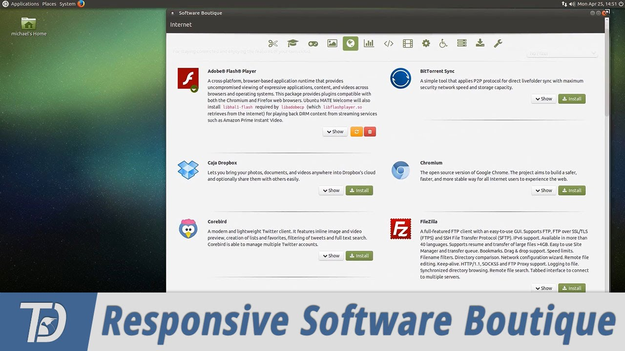 My Responsive Grid View Feature for Ubuntu MATE Software Boutique