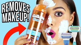 Beauty Busters: Poop or Woop? SHAVING GEL REMOVES MAKEUP! NataliesOutlet