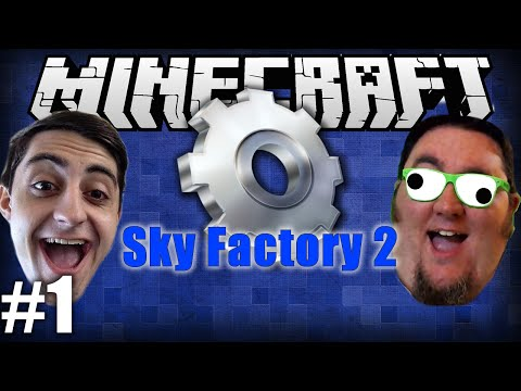 Minecraft Sky Factory 2 With @TheGiantWaffle! Ep 1