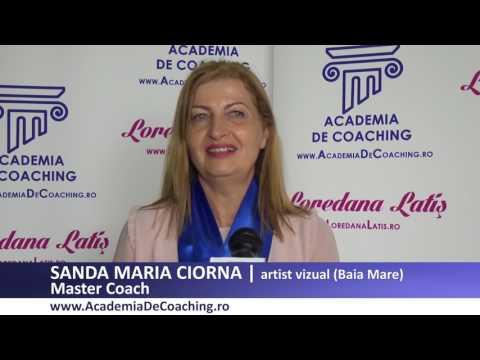 SANDA MARIA CIORNA   Absolvent Master Coach Academia Romana De Coaching, iulie 2017