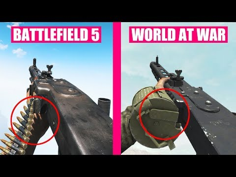 Battlefield 5 vs Call of Duty World at War Weapons Comparison
