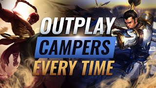 How To Outplay HARD CAMPING Junglers EVERY TIME - League of Legends