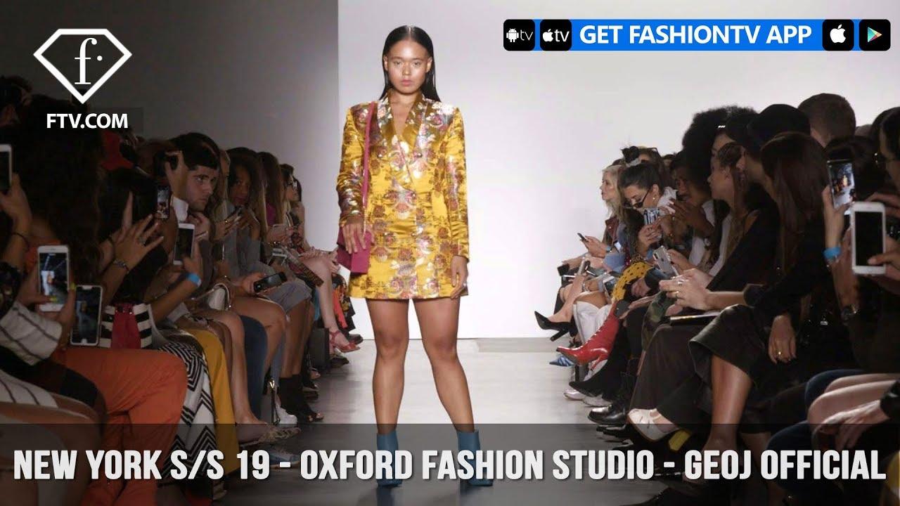 591fd4f28dacb New York Fashion Week Spring/Summer 2019 - Oxford Fashion Studio - Geoj  Official | FashionTV | FTV