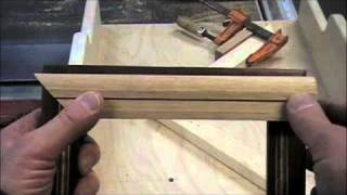 Woodworking Project - How To Make Picture Frames On A Table Saw Miter Sled - Methods & Skills
