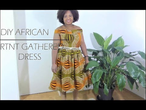 HOW TO MAKE  AFRICAN PRINT GATHERED DRESS