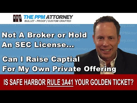 "Is SEC ""Safe Harbor"" Rule 3a4-1 your ""Golden Ticket""?"
