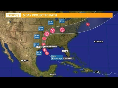 Hurricane Laura: Latest track and models as the storms moves closer to the Gulf coast