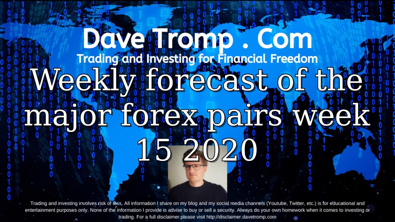 Weekly forecast of the major forex pairs week 15 2020