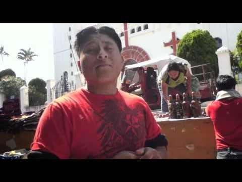 Mayan descendant speaking Kaqchikel in El Salvador