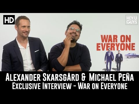 Alexander Skarsgård & Michael Peña Exclusive Interview - War On Everyone