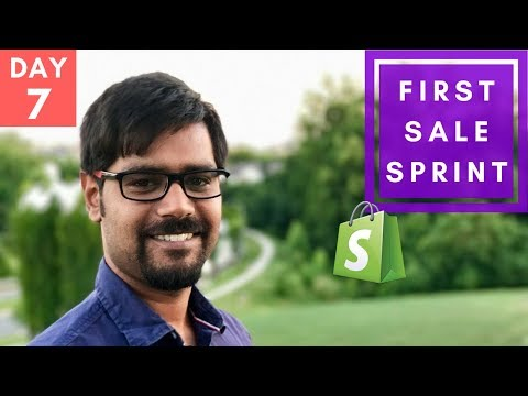 how to make first sale shopify