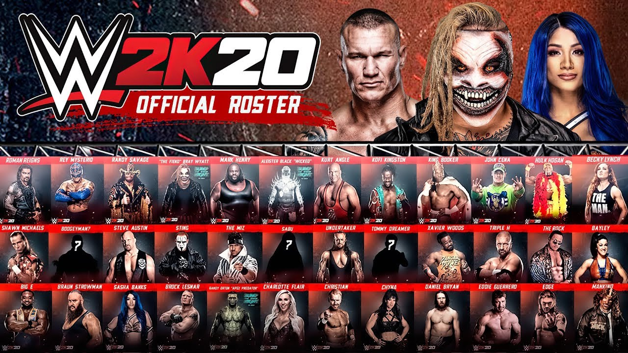 WWE2K20 Roster