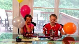 Helium Rap Challenge   Katy Perry Dark Horse   Whitney & Blakely