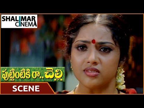 Puttintiki Ra Chelli Movie || Meena Emotional Scene || Arjun, Meena || Shalimarcinema