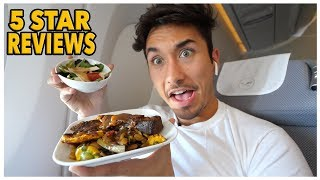 First Class Food Review On 14 Hour Flight (5 Star) *Lufthansa A350*