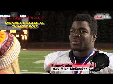 Post game with Homer-Center #35 Mike McCracken, Homer-Center,  District 6 Class 1A Champs 2017