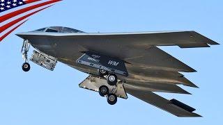 B-2 Spirit Stealth Bombers Forward Deployment in Guam - グアムに前方展開中のステルス戦略爆撃機B-2スピリット
