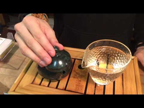 Чайник из тайваньского нефрита мо юй # 3700, 185 мл. \ Teapot # 3700, mo yu Taiwanese jade, 185 ml.из YouTube · Длительность: 54 с