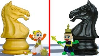 SUPERHERO BABY PLAYS CHESS 💖 Play Doh Cartoons Animation