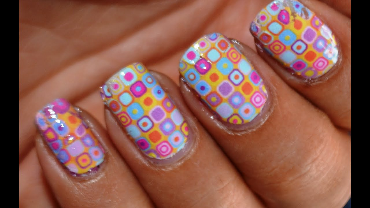 Water Decals Nail Art How To Use Diy Nail Decals Youtube
