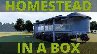 Homestead In A Box: A portable $100K eco friendly house
