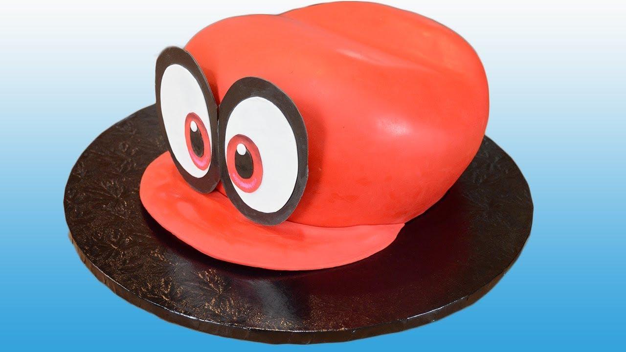 Super Mario Odyssey Hat Cake Cappy Cake Youtube