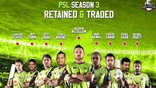 Lahore Qalandars Retained players for PSL 2018 | Lahore Qalandars squad for Pakistan super league