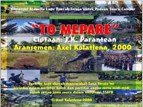 TO MEPARE - ARR. BY AXEL KOLATLENA (SSATB ACAPELLA)