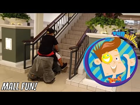 Thumbnail: WILD ANIMALS in the MALL! Bad Kids Ride a Tiger + Found Lost iPad $$$$ (FUNnel Vision Vlog)