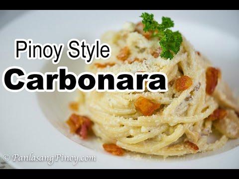 Pinoy Style Carbonara | Filipino Carbonara Recipe | Panlasang Pinoy