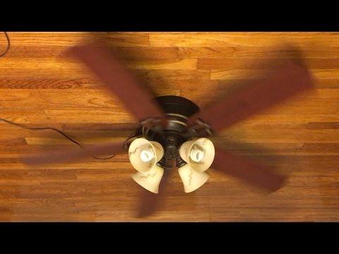 "Hampton Bay Carriage House II Ceiling Fan 52"" (Iron)(Rosewood Blades)"