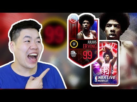 Nba Live Mobile 99 Julius Erving A.K.A DR. J Gameplay - Best Card in the Game