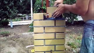 Кладка керамического кирпича - забор