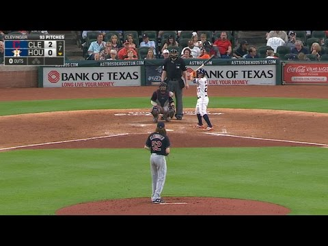 Altuve breaks up Clevinger's no-no in 7th