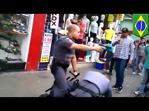 Cop fatally shoots street vendor who goes for his pepper spray in Sao Paulo, Brazil