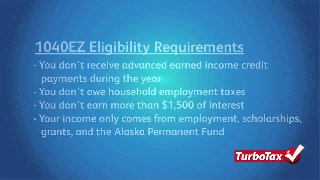 How to file a 1040ez irs form for free turbotax tax tip video how to file a 1040ez irs form for free turbotax tax tip video falaconquin