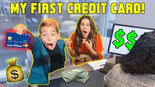 Our 9 YEAR OLD SON GETS A CREDIT CARD! *FINALLY* | The Royalty Family