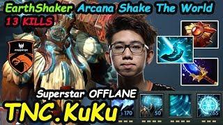 TNC KuKu [Earthshaker] Arcana Superstar OFFLANE Insane Echo Slam Dota 2 7.22F Pro Gameplay