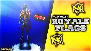 Fortnite how to get Royal Flags Backpack! (NEW FLAG BACKBLING)