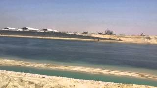 New Suez Canal week before the opening of