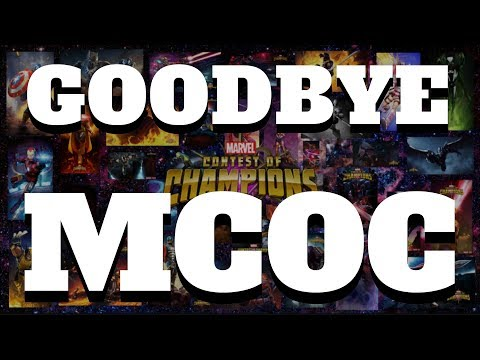 Goodbye MCOC - Thanks for All the Love & Support