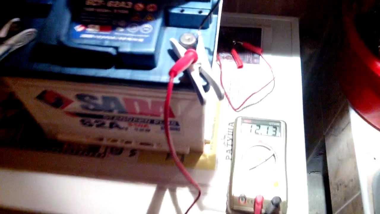 КТЦ Аккумулятора тренировка заряд разряд плотность напряжение