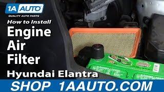 How To Install Replace Engine Air Filter Hyundai Elantra 2001-06