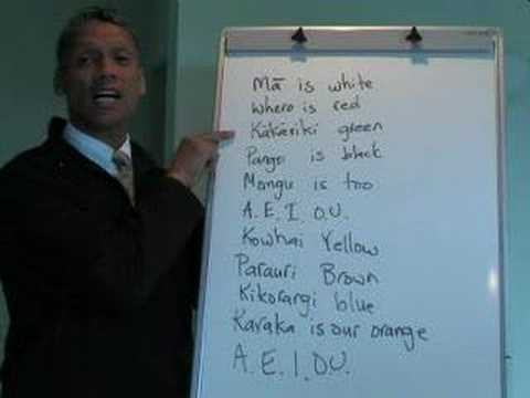 Maori Language Lessons - colours