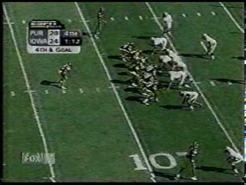 Brad Banks to Dallas Clark for the Win. 2002 Iowa Hawkeyes