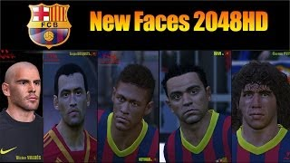 PES 2014 • Barça New Faces vol1 2048HD Texture ( Xavi Neymar Puyol Busquets Valdés) | Download • HD Thumbnail